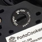 PortaCooker dual voltage selector